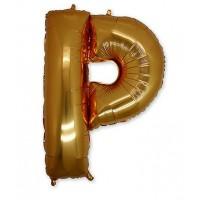 Фольгированная Буква Р золото (102 см)